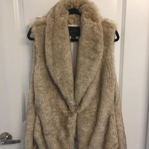 Anthropologie Sanctuary Faux Fur Vest